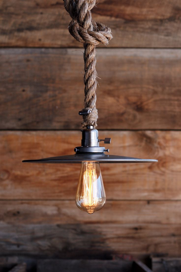 The Bunker Rustic Lighting Rope Pendant Light Rustic Lamps