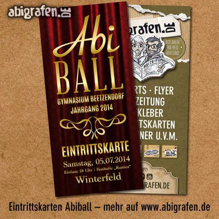 #Eintrittskarten drucken für den #Abiball - Gymnasium Beetzendorf - abigrafen