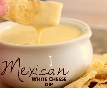 This Mexican queso cheese dip is SO GOOD!!!!  Definitely a keeper, can't wait to make this snack for football season! @allrecipes