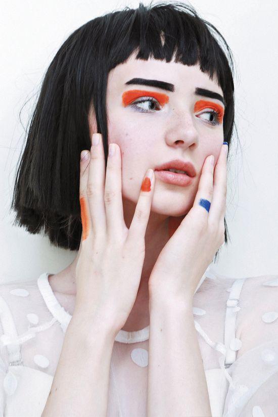 Orange eyes model :Natalia