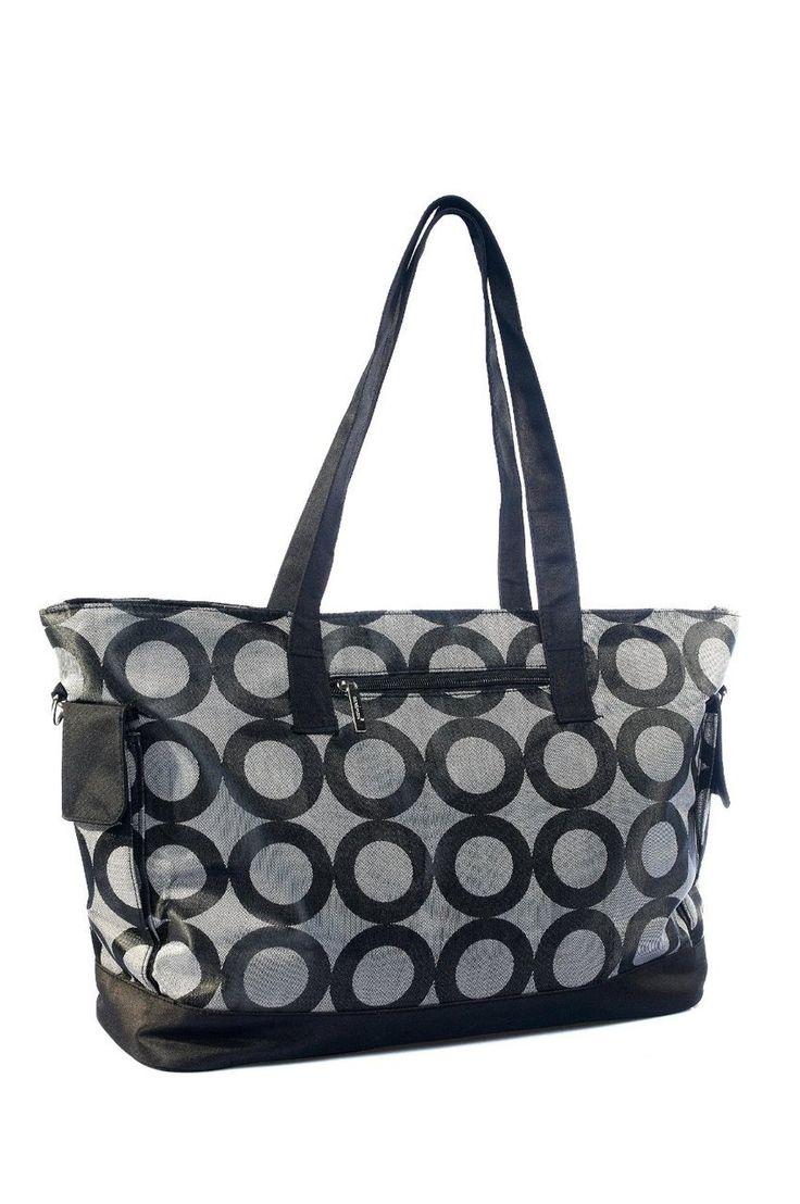 dribbleanddrool - Black Circles Nappy Bag, $49.00 (http://www.dribbleanddrool.com.au/black-circles-nappy-bag/)
