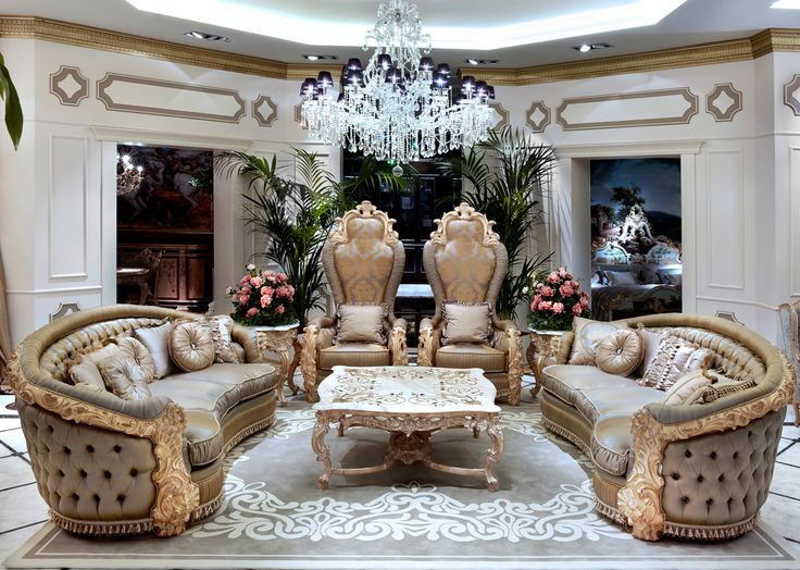 """LA BOUTIQUE collection Tulipano Asnaghi Interiors is pleased to introduce you model Tulipano which is part of """"La Boutique collection"""" designed for the sitting areas of its customers' homes. Elegance, sophistication, refined carvings and capitonné upholstered seats, all concentrated in a unique and spectacular proposal."""