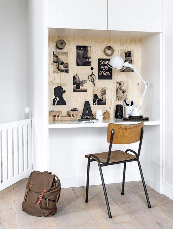 Tendance déco: le contreplaqué - plywood - un bureau vtwonen magazine | styling Kim van Rossenberg