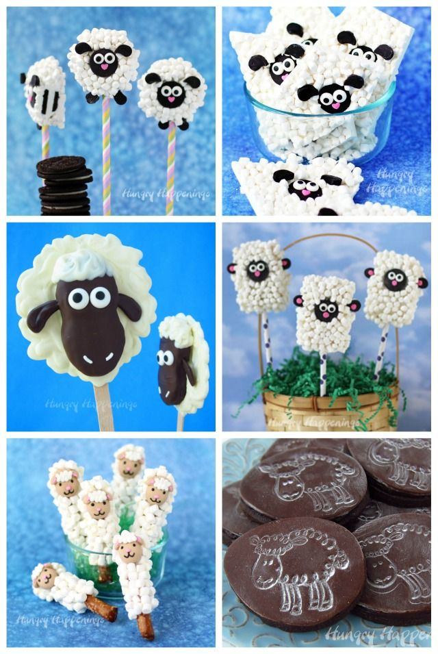 Adorably cute treats made to look like sheep will add a touch of whimsy to your Easter dinner or farm themed party.