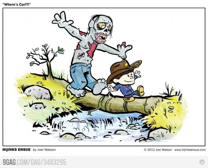 Calvin Grimes and The Walking Hobbes: Houses, The Walks Dead, Comic Books, Art, Funny, Even, Calvin And Hobbes, Walkingdead, Zombies