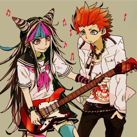 Ibuki Mioda and Leon Kuwata