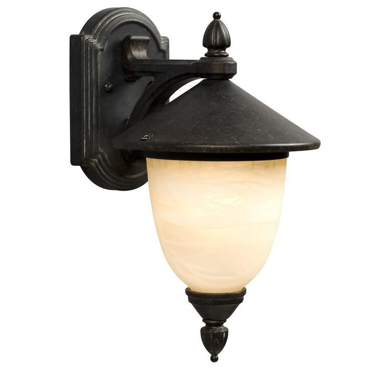 Negron 1-Light Outdoor Bronze Verdi Wall Lantern