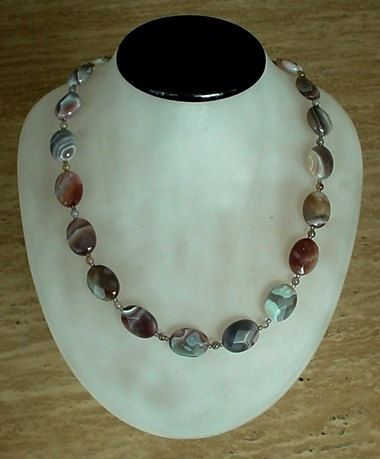 Botswana Agate Faceted Irregular Agate Necklace c/w by camexinc