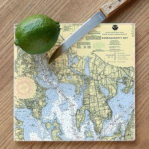 Nautical Chart Glass Cutting Board - Click to enlarge