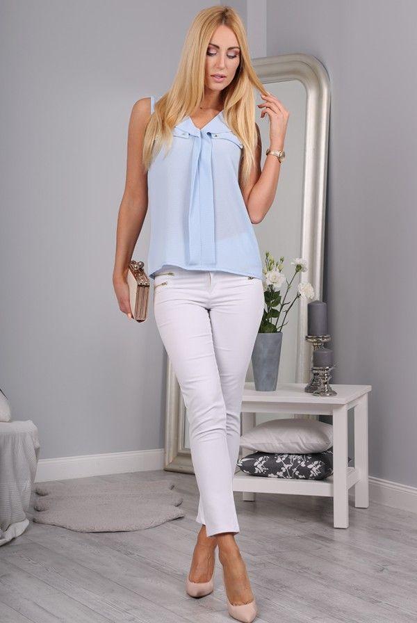 Spodnie białe 98740