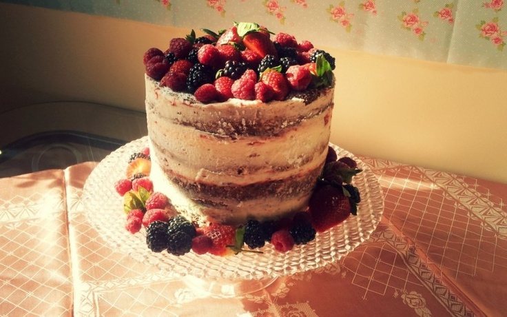 Summer Berry Celebration Cake