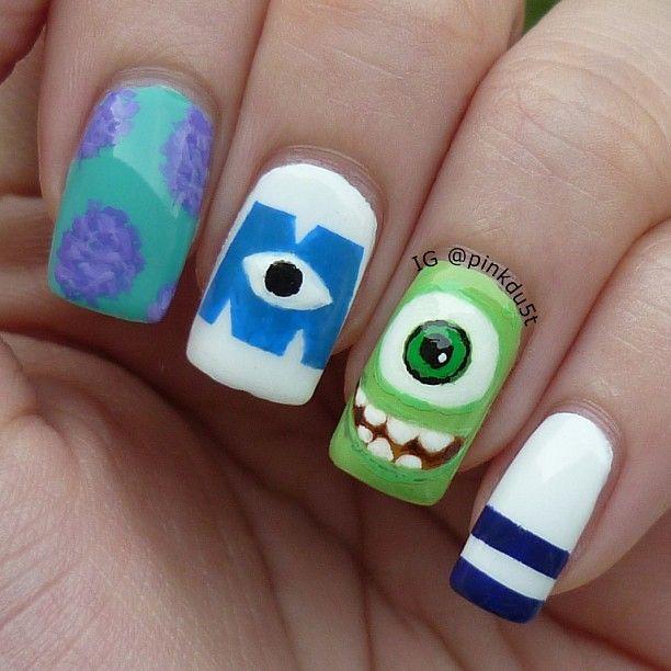 Monster university by  pinkdu5t #nail #nails #nailart