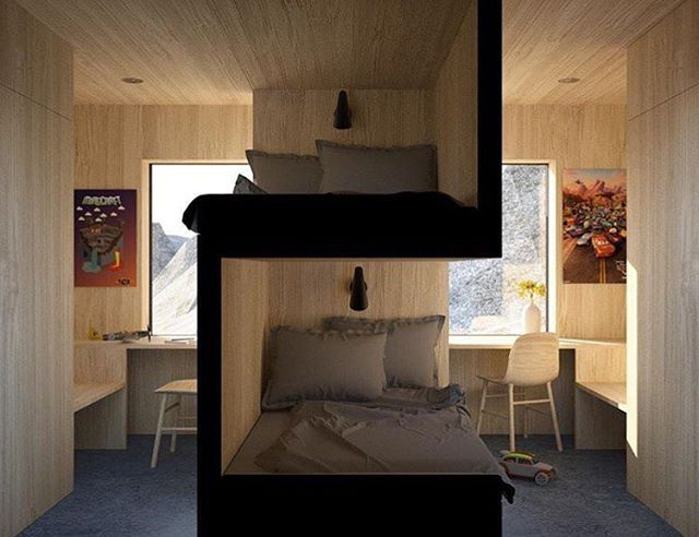 Intelligent solution for sibling bedrooms by @vardehaugen_arkitekter. . Tag #morpholio to be featured! . : @einarelton
