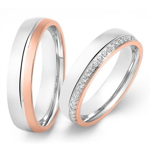 925er Silber Eheringe in Bicolor https://www.thejewellershop.com/  #ringe #eheringe #trauringe #hochzeit #wedding #silber #bicolor #gold #silver #ring #partner #love #jewelry #schmuck