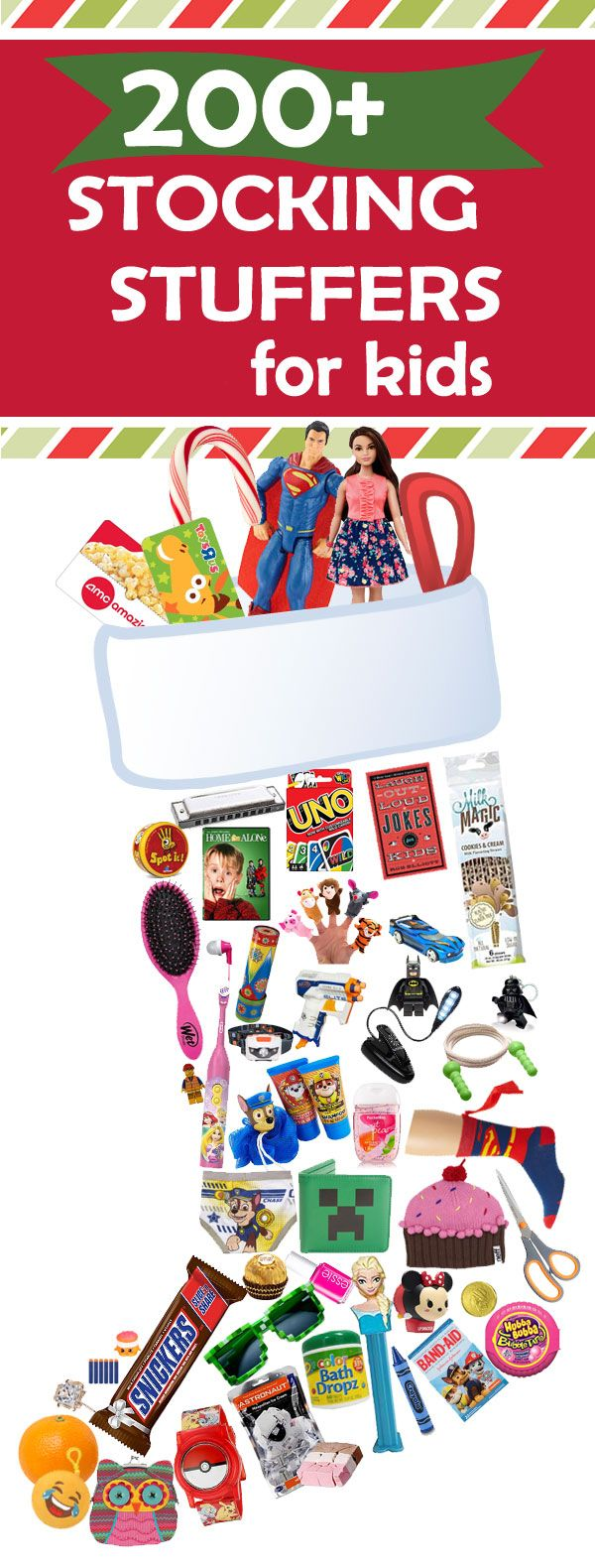 Parents, save this list! It contains all the coolest stocking stuffers for kids. See over 200 Christmas stocking ideas for kids.