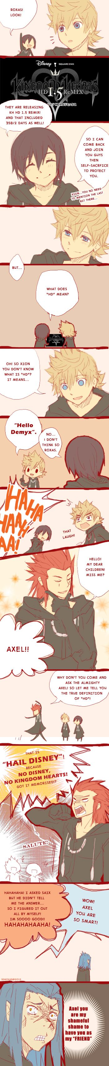 The Trio Talk about KH HD1.5Remix by semokan.deviantart.com on @deviantART