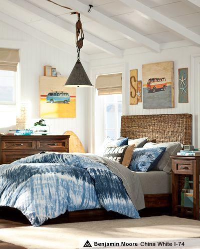 Boys Surf Bedding, Tie-Dye Bed Sets & Natural Tie-Dye Bedroom   PBteen