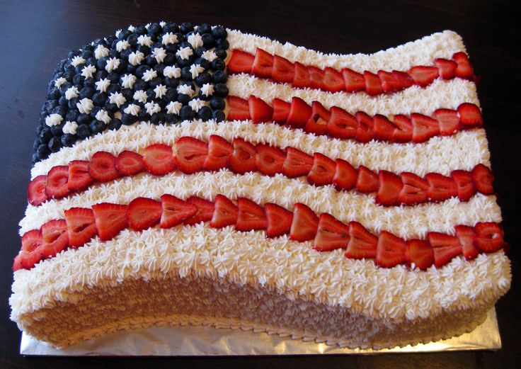 116 best images about cakes july 4th on pinterest red for American flag cake decoration