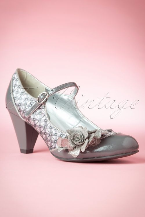 50s Bridget Pumps in Pewter  Ruby ShooVintage