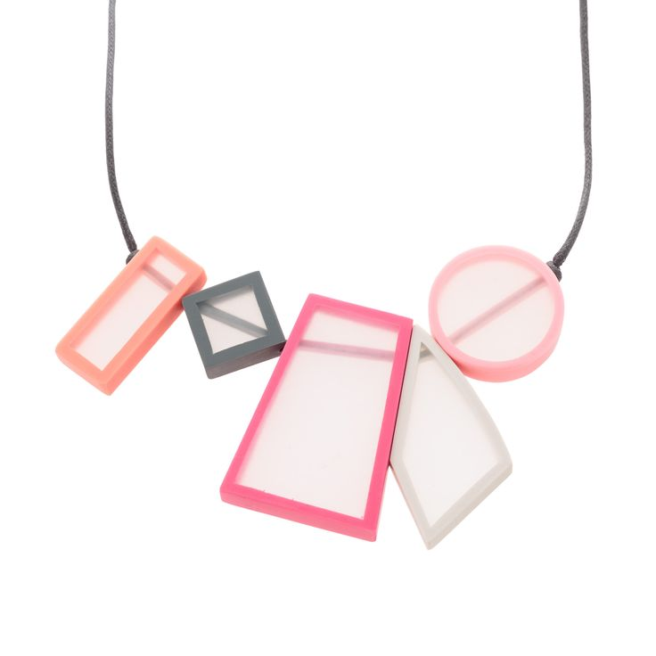 Buy the Pastel Olympia Geo Shapes Long Collar Necklace at Oliver Bonas. Enjoy free worldwide standard delivery for orders over £50.