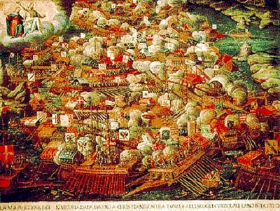 The Battle of Lepanto in 1571 was an epic sea battle of massive proportions and the last battle between rowed galleys as sailing ships became more prevalent. It was fought near Venice by almost 50,000 men in more than 500 ships between the Christians and the Muslims, with the Muslims trying to take Vienna. It was a crushing defeat for the Muslims who lost 20,000 men and almost their entire navy, while the Christian losses were minor. Ottoman expansion was halted for centuries.
