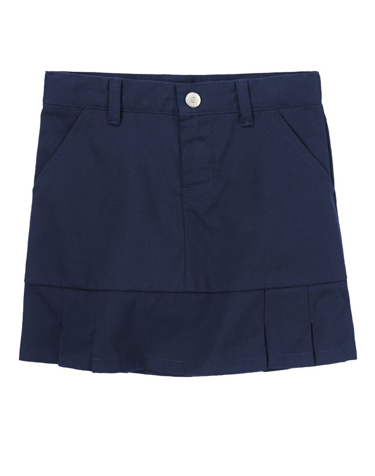 Twill Skort at Gymboree - I would love to buy this skirt for my daughter in either navy blue or khaki!