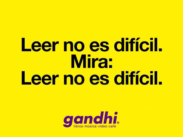 Leer no es difícil. Mira: Leer no es difícil. #LeeComics #queleer
