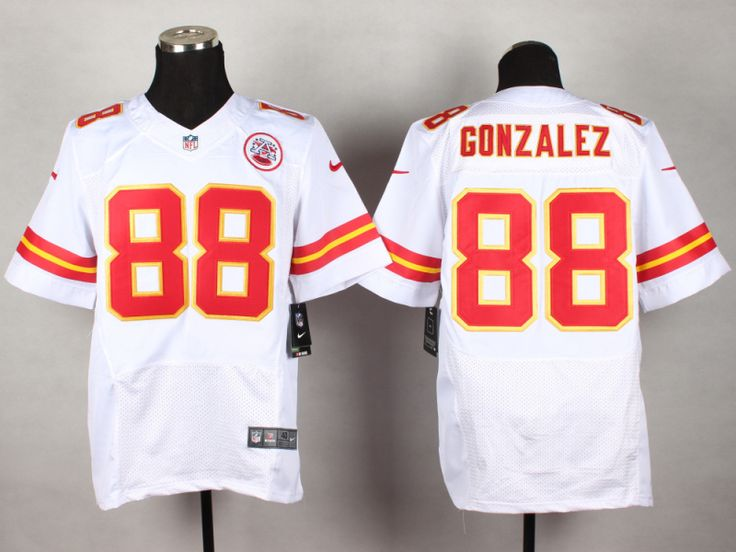Kansas City Chiefs #88 Tony Gonzalez White Men's Stitched NFL Elite Jersey