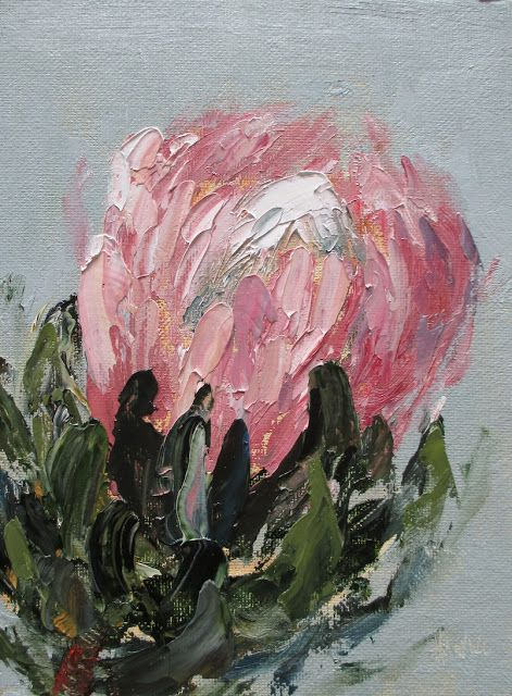 Daily painting 744 Studio protea 1