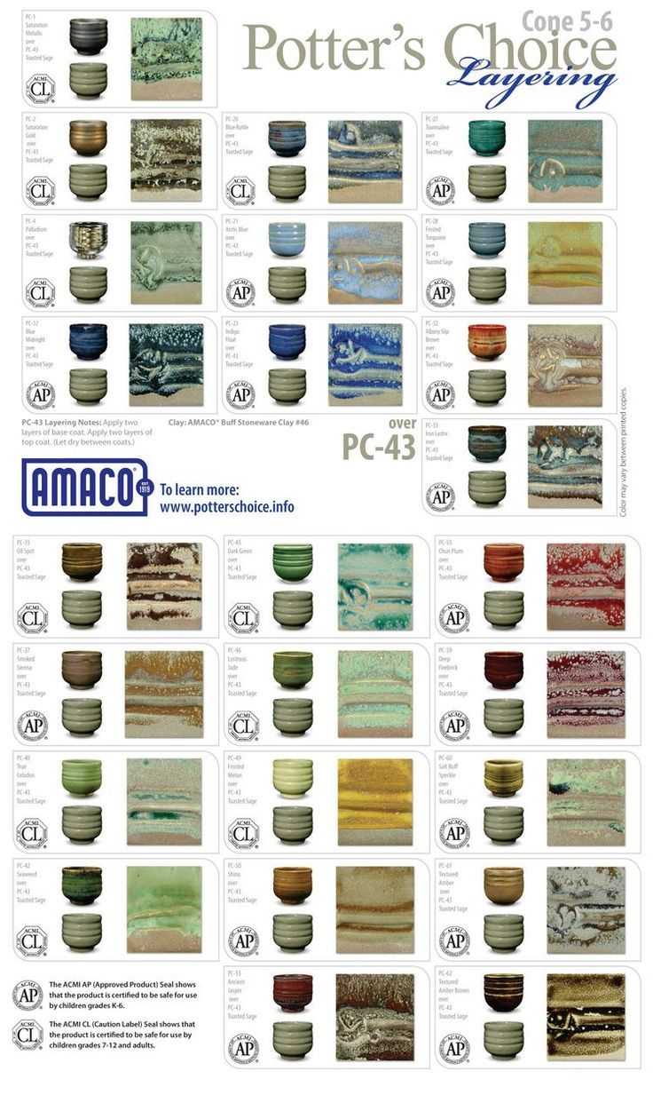 1000 Images About Potters Choice Glazes On Pinterest