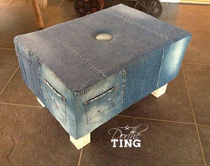 Puf - jeans - pouf - ottoman