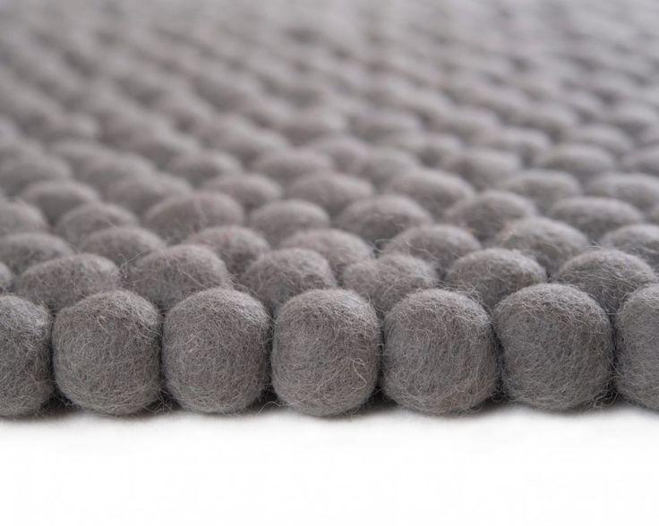 Der dänische Designer Teppich grau modernen