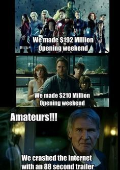 funny jurassic world movie Star wars trailer internet - Google Search