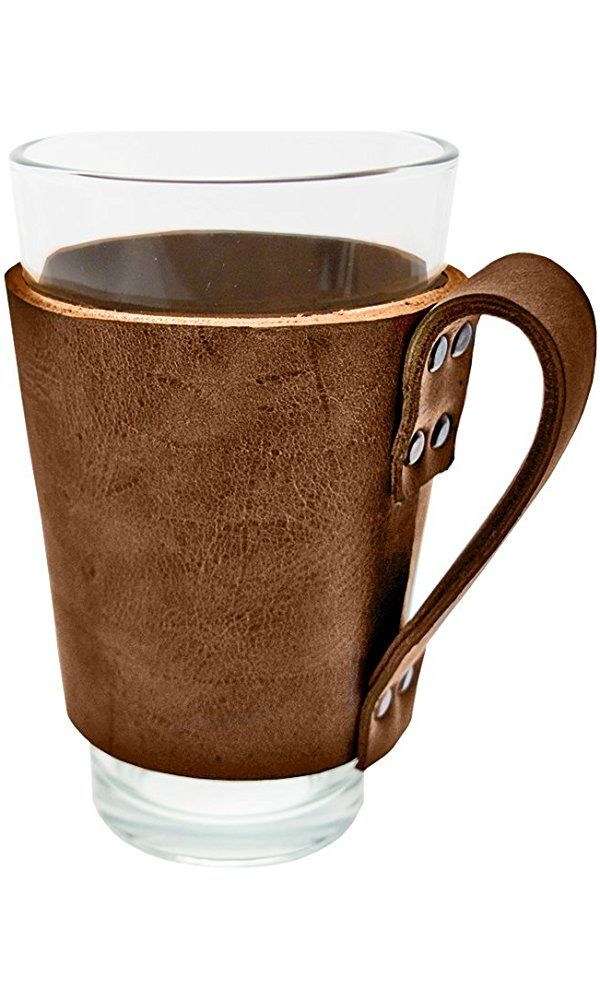 Rustic Leather Pint Sleeve with Handle Handmade by Hide & Drink :: Bourbon Brown Best Price