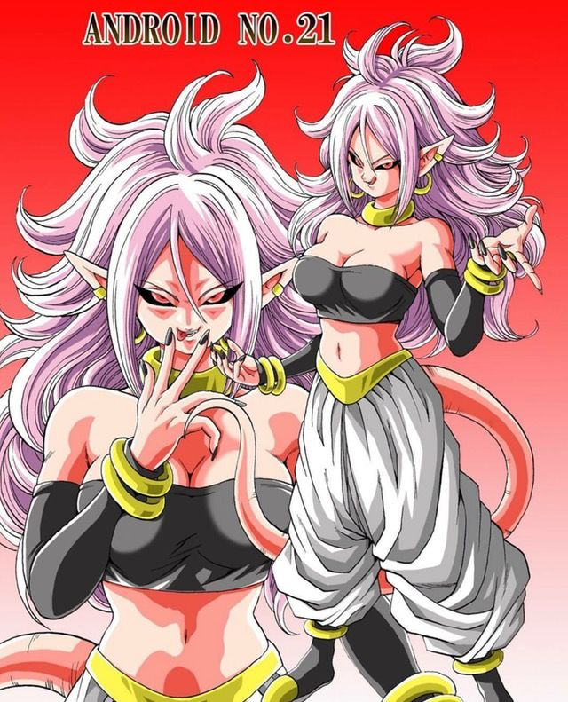 Android 21 is now officially my favorite female dragon ball character.