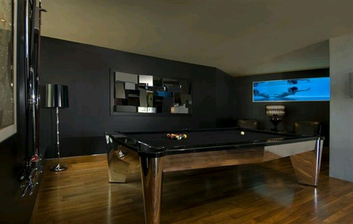 Man Cave With Black Walls Game Room Pinterest Caves
