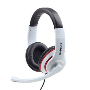 ✨ Net Solutions ✨ Casque Micro PC pour Gaming, musique, vidéo, skype | Blanc