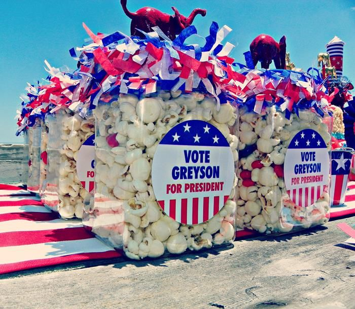 Greyson for President Birthday Party via Kara's Party Ideas | Kara'sPartyIdeas.com #president #party #election #idea (19)