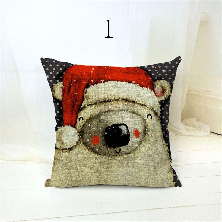 Cute cartoon cotton linen blend throw pillow home decorative cheap cushion covers 45 * 45cm kussenhoes ikea