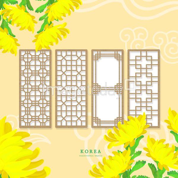 PSD 일러스트 한국 전통 문양 한국전통 오브젝트 국화 꽃 문화 페인터 이미지 디자인 illust illustration korea tradition pattern object flower culture painter paint image design 이미지투데이 통로이미지 #imagetoday #tongroimages