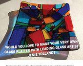 Art glass workshop where you learn to create this wonderful fun bright art glass platter!