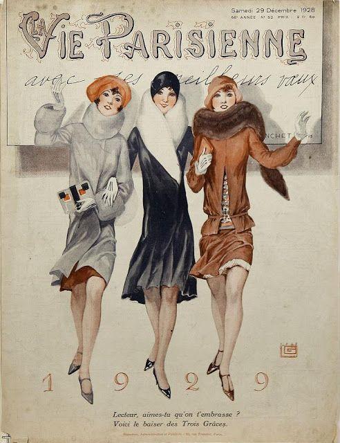 "Art Deco Fashion Illustration - French Magazine ""La Vie Parisienne"" ~ Art Deco Designs and Times"