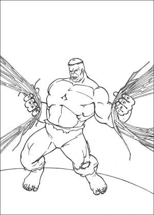 Simple Color Drawing Book 98 Hulk coloring page is