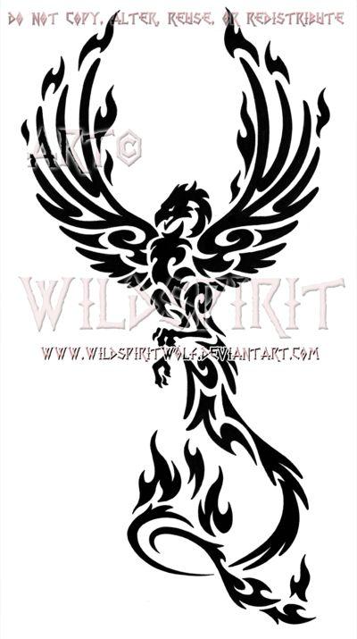 Majestic Tribal Phoenix Design by WildSpiritWolf on deviantART