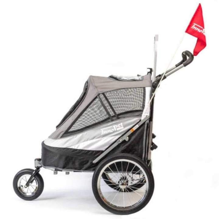Innopet sporty dog stroller and bike trailer black