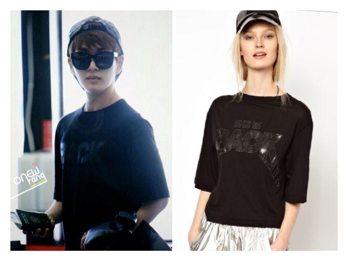 130805私服☆てみんが'NEW MUSIC'なら、おにゅは'SHE IS BACK'であった(⌒▽⌒)✧ スウェーデンのブランド♡  'Ann-Sofie Back' She is Back T-Shirt