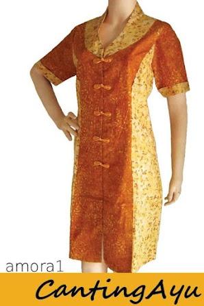 Roemahcantikku Batik Gallery - Kreasi Canting Ayu - Amora Dress 1 | batik smock dan cap