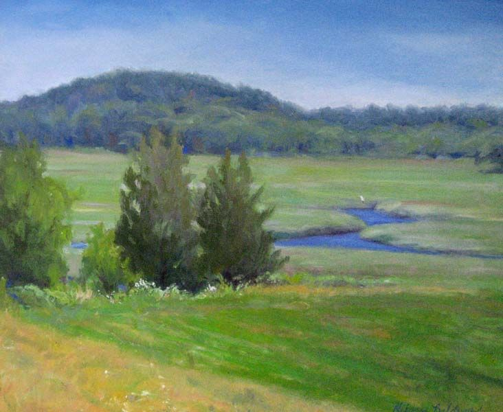 Hilary Baldwin: July Summer Day (16x20 oil on canvas) from Renjeau Galleries, renjeau.com
