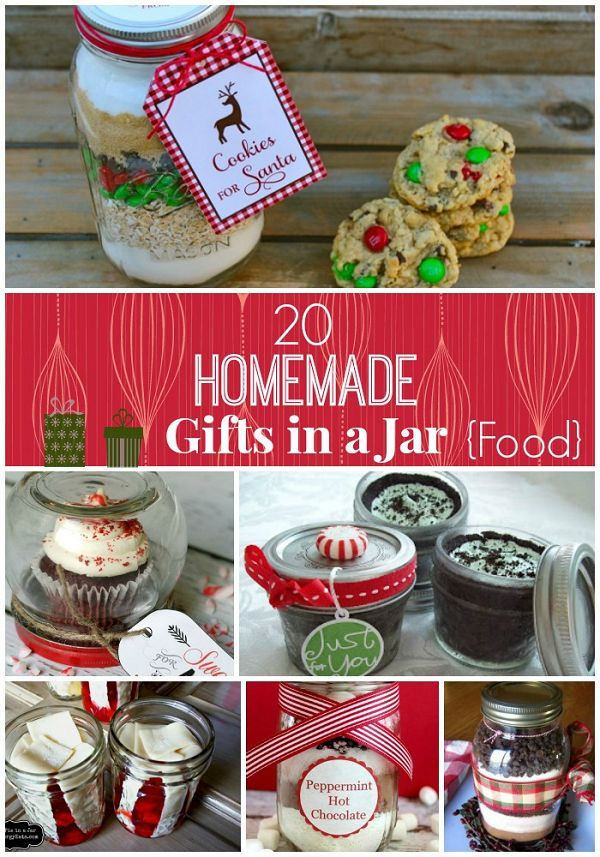 20 Best DIY Mason Jar Gifts - great for holiday gifts! Christmas DIY