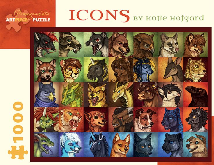 Icons by Katie Hofgard  Katie Hofgard's digital paintings are built upon a love of nature, animals, and fantasy. From these small, loosely painted portraits to grand, finely detailed dreamscapes, Hofgard's paintings express personality at any scale. Each commissioned icon represents a person's animal character online—in social media, roleplay forums, and more. Her work has earned the admiration of fellow artists who turn to her for help with the intricacies of painting digitally, a medium…